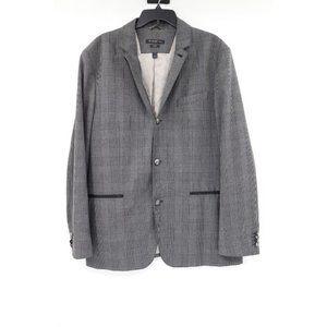 John Varvatos men's 46 glen plaid gray sport coat